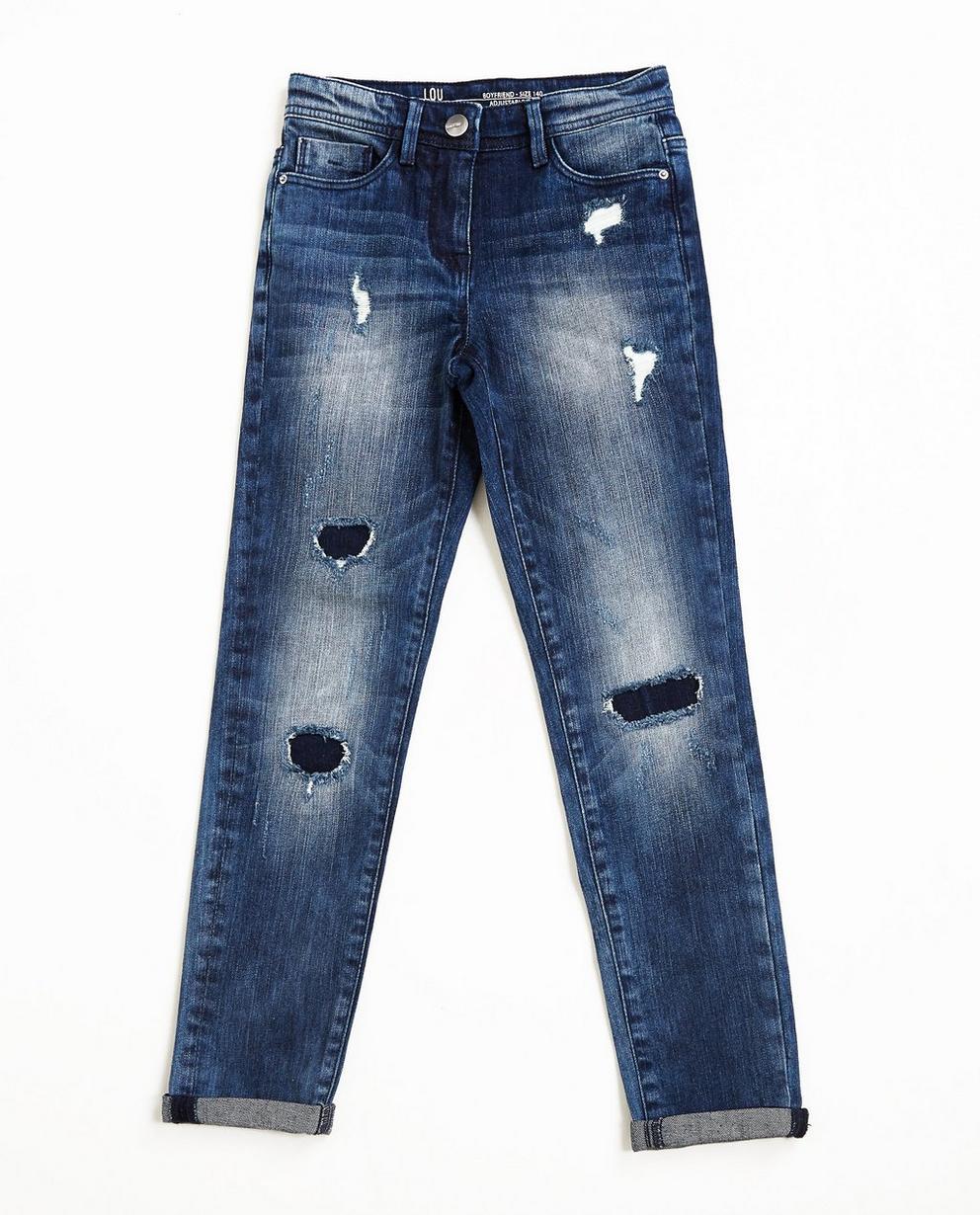Jeans boyfriend destroyed - délavage important - JBC